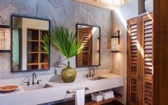 idées déco salle de bain luxe exotique