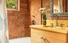 Salle de douche au design rustique