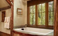 baignoire avec vue rustique