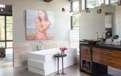 salle de bain luxe design rustique chalet de montagne