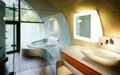 intérieur salle de bains minimaliste luxe