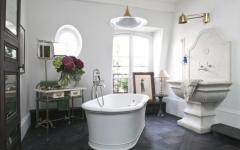 salle de bains baignoire luxe maison paris