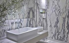 salle de douche marbre luxe blan