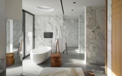 salle de bain design prestige marbre blanc