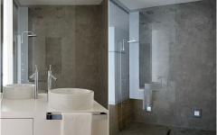 salle de bain béton design industriel douche