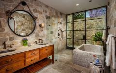 salle de bain rustique douche extérieure