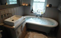 salle de bain design rustique cottage anglais