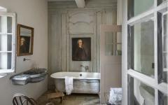 salle de bain luxe baignoire retro
