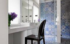 déco mosaïque salle de bains appartement