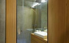 douche bois et verre ancienne demeure