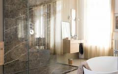 salle de bain décoration design marbre