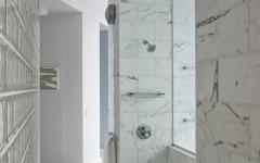 douche avec vue marbre blanc