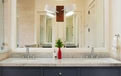 salle de bain marbre lavabo double