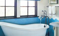salle de bains rustique maison de luxe