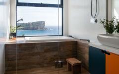 salle de bain design épuré écologique