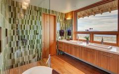 salle de bain baignoire chalet de vacances