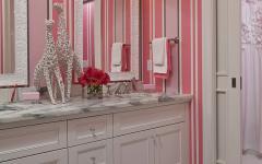 salle de bain papier peint rustique