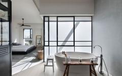 salle de bain ameublement minimaliste ouverte