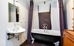salle de bain rétro design baignoire à pieds
