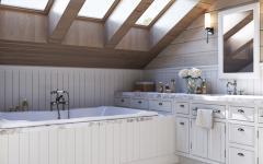 design rustique salle de bain comble maison
