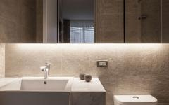 Salle de bains simple minimaliste