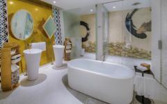 salle de bain baignoire luxe oriental
