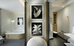 salle de bains baignoire luxe villa de Saint Tropez