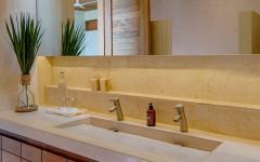 salle de bain exotique villa de vacances