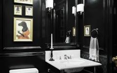 toilettes design peintes en noir