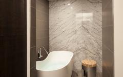 salle de bains compacte appartement de luxe