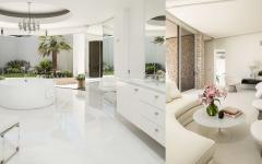 salle de bains luxe blanc