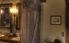 salle de bains neuve style rustique rétro en bois