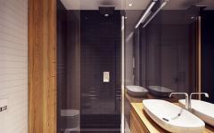 minimaliste épuré salle de bain appartement