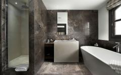 salle de bain luxe marbre chalet de ski courchevel