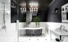 belle salle de bain design rétro