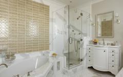 salle de bains design marbre blanc