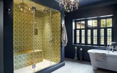 salle de bains moderne unique noire
