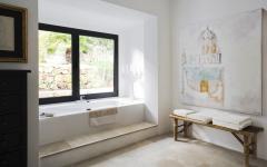 baignoire et salle de bains rustique