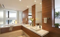 salle de bain original rustique bois