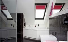 salle de bains design avec baignoire d'angle