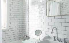 salle de bain carrelage de métro rétro design