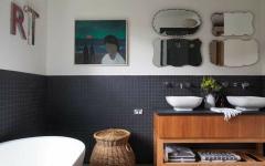 touches rétro salle de bains design