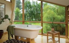 salle de bain design rustique chalet