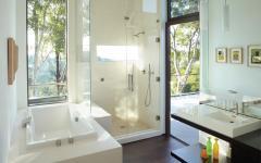 vue depuis la salle de bain maison moderne prestige