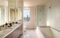 salle de bain baignoire marbre blanc