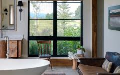 superbe salle de bain luxe maison rustique