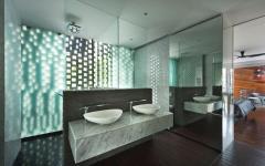 salle de bain double évier maison exotique