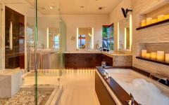 salle de bain au design luxeux