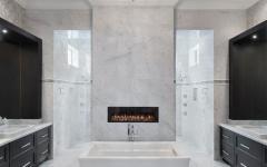 marbre blanc salle de bains design luxe