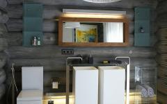 salle de bain maison en bois russe